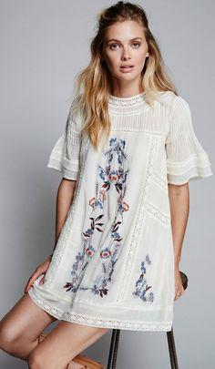 ❤️ NOW Trending - A Gorgeous Boho Embroidery Dress as featured on Pasaboho. Now available at $59. ❤️ boho chic :: summer dress :: bohemian style ::gypsy style :: boho fashion :: gypsy style :: hippie chic :: boho chic :: outfit ideas :: boho clothing :: free spirit :: fashion trend :: embroidered :: flowers :: floral :: summer :: fabulous :: love :: street style :: fashion style :: boho style :: bohemian :: modern vintage :: ethnic tribal :: boho bags :: boho summer dress trend