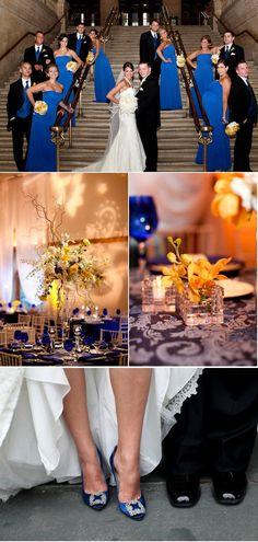 Royal blue wedding.