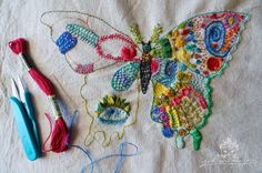 D o k n o m m e a w - p l a y: Eye Butterfly Embroidery...draw your own designs and embroider away!