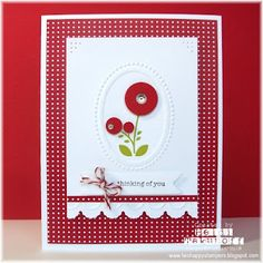 Two Happy Stampers: Red Blossoms   :))