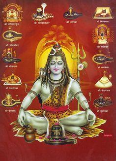 Meditating Shiva with 12 Jyotirlingas - Hindu Posters (Reprint on Metallic Paper - Unframed) Lord Shiva Pics, Lord Shiva Hd Images, Lord Shiva Family, Lord Ganesha Paintings, Lord Shiva Painting, Lord Shiva Hd Wallpaper, Lord Vishnu Wallpapers, Hindu Kunst, Shiva Meditation
