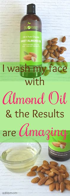 Using Almond oil to wash my face has given me amazing results. Younger looking skin, supple...