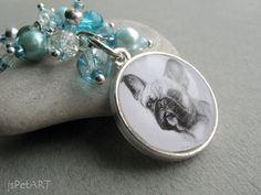 French Bulldog Beaded Key Ring Pet Drawing Pet Gift by jsPetART