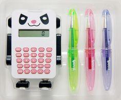 Robot Calculator Set - White