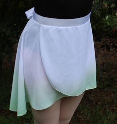 Green Dip Dyed Ballet Wrap Skirt