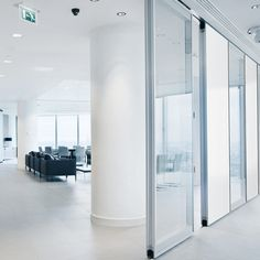 moveo glass movable wall in an office environment also sound insulation