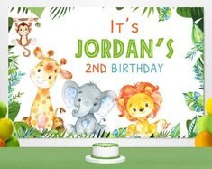 Birthday Activities, Birthday Party Games, Unicorn Birthday Parties, Birthday Balloons, Unicorn Party, Safari Party, Safari Theme, 4 Year Old Boy Birthday, Personalized Banners
