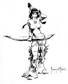 frank frazetta sketch - Pesquisa Google