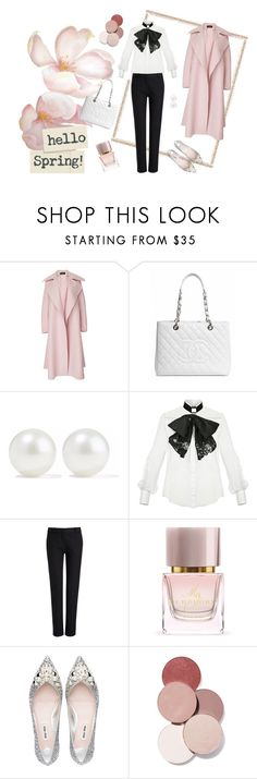 """""""Spring Pink"""" by vuzetka on Polyvore featuring Rochas, Chanel, Kenneth Jay Lane, Elisabetta Franchi, Joseph, Burberry and LunatiCK Cosmetic Labs"""