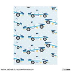 Sold. #Police #pattern #fleeceblanket Available in different products. Check more at www.zazzle.com/celebrationideas