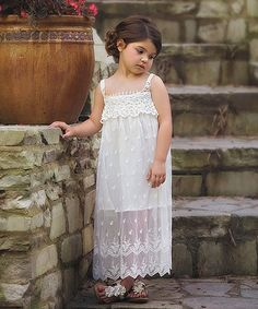 Another great find on #zulily! White Alexia Dress - Toddler & Girls #zulilyfinds