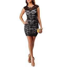 Black/Ivory Lace Dress