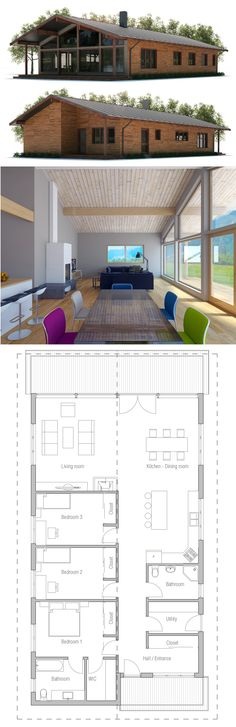 Narrow House Plan CH400