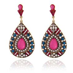 new Vintage Bohemian Earrings for Women Fashion Statement Jewelry Drop Earrings Brincos Stud E1061