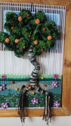 Tapestry Weaving, Fiber Art, Loom, Macrame, Knit Crochet, Textiles, Christmas Ornaments, Knitting, Holiday Decor