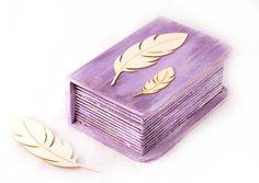 Ring Bearer Box, Jewelry Box, Keepsake Box, Weddings, Wedding Ceremony, Wedding Ring Box , Purple Box  4.8x  2.7x  1.9 £20.34