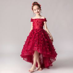 Kids Pageant Dresses, Kids Party Wear Dresses, Dresses Kids Girl, Prom Dresses, Little Girl Gowns, Gowns For Girls, Little Girl Outfits, Pretty Dresses For Kids, Pretty Little Dress