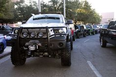 Many aftermarket parts were used to transform this 2011 Toyota Tundra for SEMA 2012