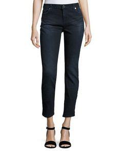 Skinny Ankle Jeans, Dark Indigo