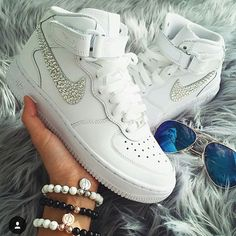 Nike Women Sneakers Air Force 1 Swarovski Crystals Made by Diamond Kicks  Ships Worldwide Air Force 860d5588b