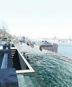 UMA - public infinity pool in stockholm