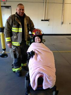 Pyper Forsyth visiting Spruce Grove Firefighters Rooftop February 24 2016