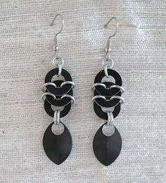 Lightweight aluminum earrings from KaliButterfly - a staple.