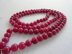 Red Jade Necklace Genuine Natural Stone 8mm 108 RED Jade Round Beads Rosary Neck