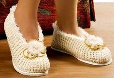 croche com receita sapato pantufa flores dvd aprender croche edinir-croche curso de croche loja