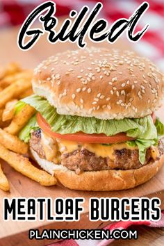 Ground Meat Recipes, Hamburger Recipes, Beef Recipes, Cooking Recipes, Recipies, Grilled Meatloaf, Meatloaf Burgers, Grilled Beef, Ketchup