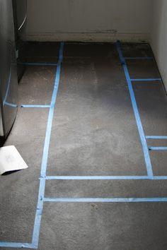 DIY painted floor tutorial