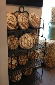 ... a boulangerie with perfect rounds of bread.