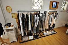 Anita's place - clothes shop in Verona by Reverse - #pallets #clothesholder with style