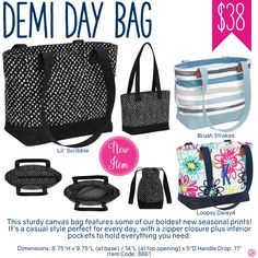 Thirty-One Demi Day Bag Purchase - Spring/Summer 2017