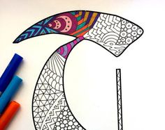 Letter C Zentangle Inspired by the font Deutsch by DJPenscript