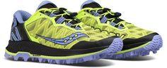 Saucony Women's Koa ST Trail-Running Shoes Citron/Purple 10.5