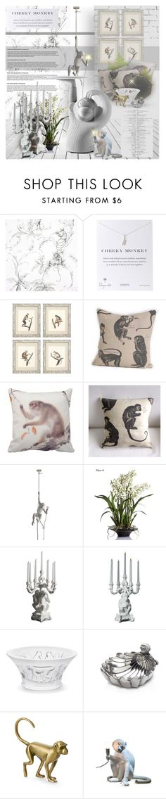 """Year of the MONKEY! contest"" by giudittina ❤ liked on Polyvore featuring interior, interiors, interior design, ホーム, home decor, interior decorating, Nina Campbell, Dogeared, Eichholtz と Seletti"