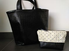 Tuto couture - Avenue N° 5 Tote Bag, Purses, Sewing, Pop, Fashion, Black Bags, Objects, Library Bag, Handbags