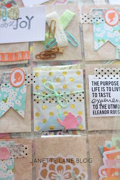 Here's a look at some snail mail inspiration perfect for spring themed pocket mail.