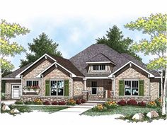 Build your ideal home with this Craftsman house plan with 2 bedrooms(s), 2 bathroom(s), 1 story, and 2107 total square feet from Eplans exclusive assortment of house plans.