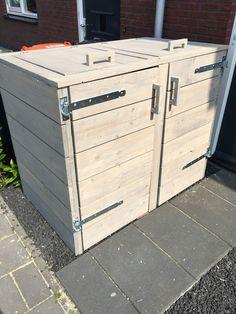 container ombouw pallethout duo poubelle refuges et abris de jardin. Black Bedroom Furniture Sets. Home Design Ideas