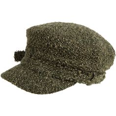 Hat Attack Green Wool Cap ($72) ❤ liked on Polyvore featuring accessories, hats, military caps hats, crown cap hats, military style cap, peaked cap and military hats