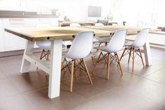 "≥ Eetkamertafel ""10 degrees"" - Tafels   Eettafels - Marktplaats.nl Dining Table, Interior Ideas, Upcycle, Furniture, Google, Home Decor, Decoration Home, Upcycling, Room Decor"