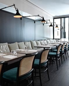 This restaurant looks like a chic and cozy office
