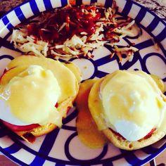 I finally made really good Eggs Benedict!!! #yeay