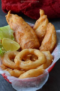 Beer Battered Fish Fry & Onion Rings — Spiceindiaonline – My CMS Deep Fried Fish Batter, Fish And Chips Batter, Recipe For Fish Fry Batter, Catfish Batter Recipe, Beer Batter For Fish, Easy Fish Batter, Deep Fry Batter, Deep Fried Shrimp, Seafood Dishes