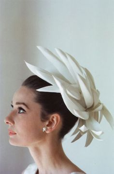 Audrey Hepburn in an amazing hat.