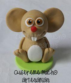 SOUVENIR RATON PEREZ CANCIONES DE LA GRANJA PORCELANA FRIA Clay Figures, Air Dry Clay, Photo Displays, Yoshi, Biscuit, My Design, Handmade, Cold, Homesteads