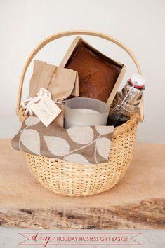 Great DIY Christmas Gifts Ideas ... DIY Holiday Hostess Gift Basket #xmas_present #xmas_gifts