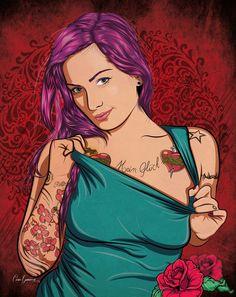 Girl Tattoo #Cgv #Vector #Tattoo